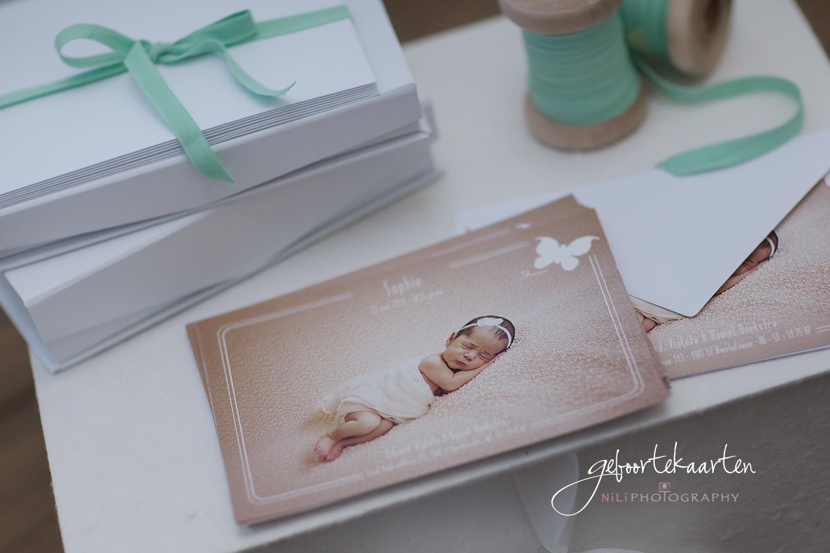 geboortekaarten newborn fotografie Amsterdam